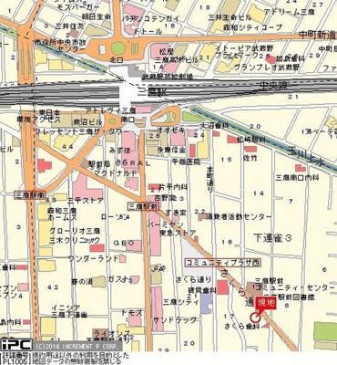【地図】ライオンズマンシヨン三鷹さくら通り