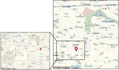 【地図】オレンジハイツ
