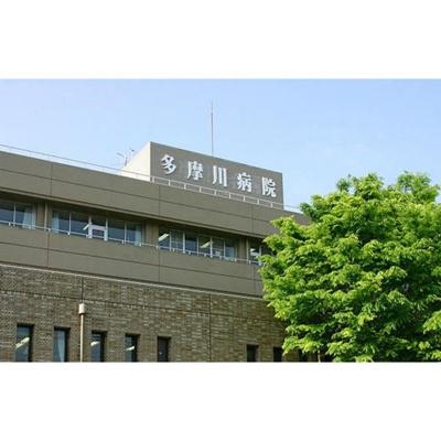 病院「医療法人社団大和会多摩川病院まで60m」