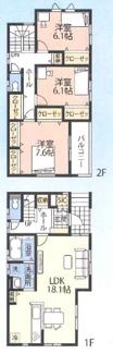 千葉市中央区葛城 新築一戸建 本千葉駅 充実の収納スペース