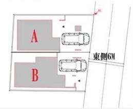【区画図】板橋区常盤台3丁目 新築戸建 A号棟 5180万円