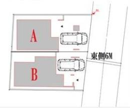 【区画図】板橋区常盤台3丁目 新築戸建 B号棟 5280万円