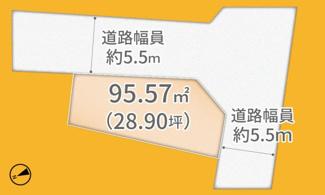 【土地図】宇治市宇治半白 売土地 建築条件付き