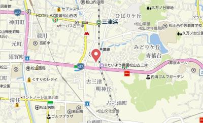【地図】LUMIELE古三津