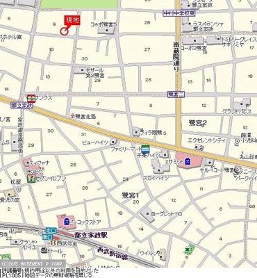 【地図】ルーブル都立家政