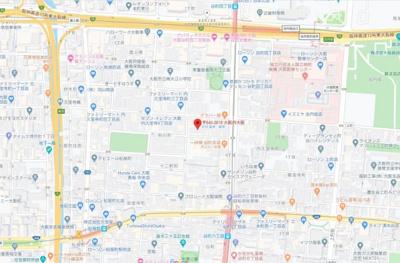 【地図】キングマンションプリフォール谷町