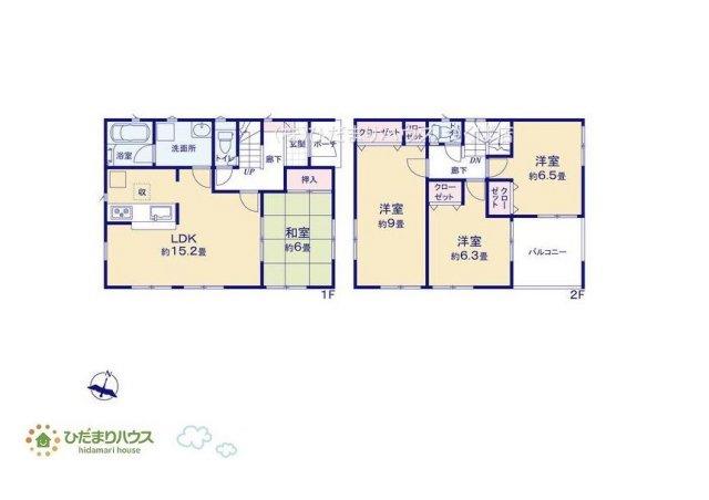 リビングと隣り合わせにある和室は合わせて21.2帖!扉を閉めれば、来客用の部屋として使えます♪