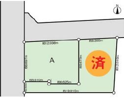 【区画図】練馬区関町南4丁目 新築戸建 A号棟 6680万円