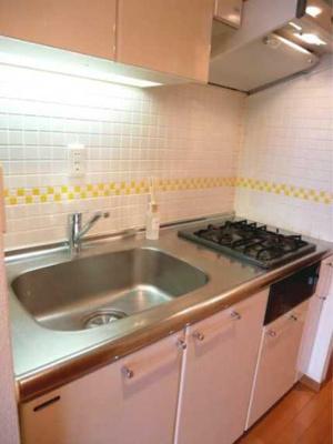 【キッチン】ステージグランデ三軒茶屋アジールコート ネット無料 24時間ゴミ出し可 独立洗面台