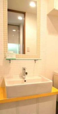 【洗面所】ステージグランデ三軒茶屋アジールコート ネット無料 24時間ゴミ出し可 独立洗面台