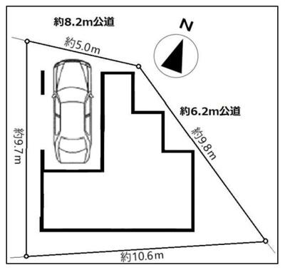 【区画図】新築戸建て さいたま市浦和区岸町1丁目