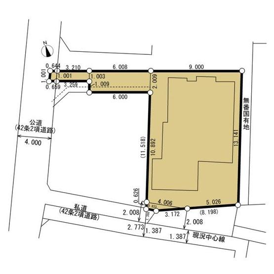 【区画図】岩戸南3丁目 中古戸建