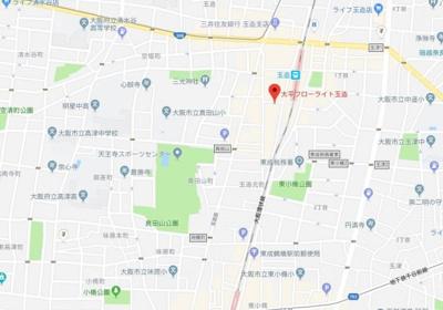 【地図】太平フローライト玉造