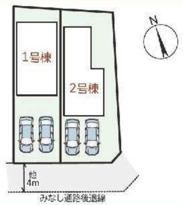 【区画図】リーブルガーデンS木津川市相楽城下