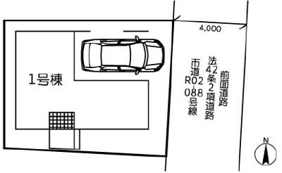 【区画図】板橋区弥生町  新築戸建 6980万円