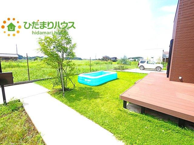 家族みんなで広~いお庭でバーベキューが楽しめます(^^♪