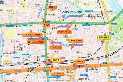 【地図】スパシエアランシア亀戸