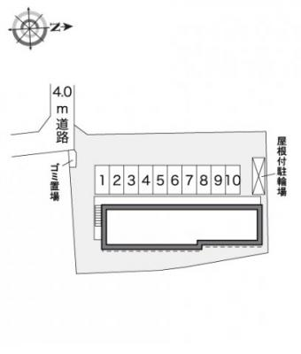 【区画図】レオパレスメルベーユ参番館