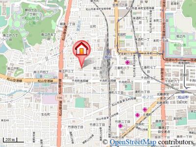 【地図】サンシャインハイツB棟