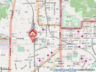 【地図】スーペリアガーデンM A棟