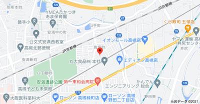 【地図】高垣町貸家