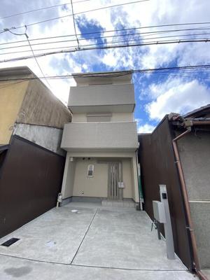 【外観】下京区梅小路東中町 新築戸建て