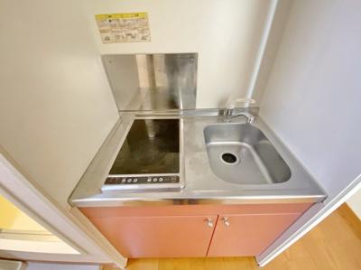 【キッチン】レオパレスホワイトベース