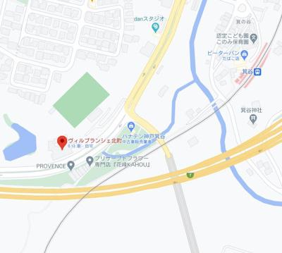 【地図】ヴィルブランシェ北町テナント