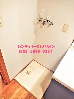 脱衣・洗面スペースにある室内洗濯機置場