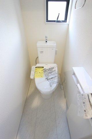 コンパクトで使いやすいトイレです:建物完成しました♪♪毎週末オープンハウス開催♪三郷新築ナビで検索♪