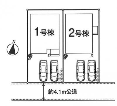【全2棟・1号棟】土地面積125.22㎡(37.87坪)