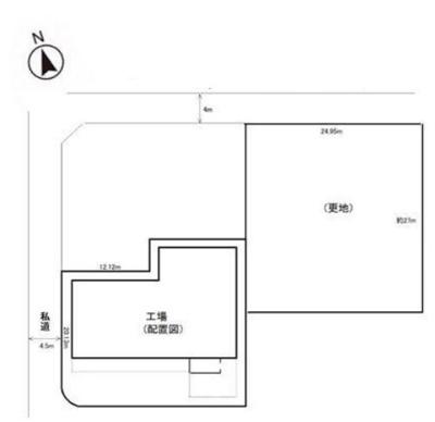 【区画図】八王子市川口町 準工業地域 売工場