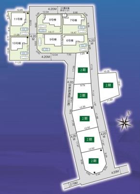 【区画図】新築分譲住宅 狭山市柏原15期 全6棟(6号棟)