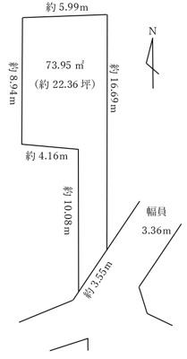 【区画図】練馬区貫井5丁目 土地 西武池袋線 中村橋
