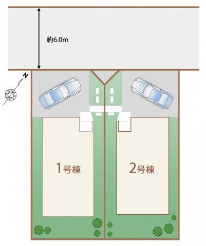【区画図】神戸市西区学園東町 新築戸建