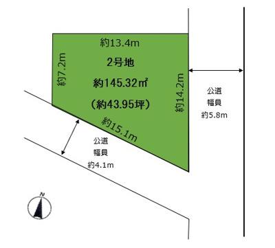 【区画図】苦楽園二番町 2号地 売土地
