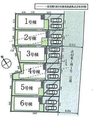 全6棟・2号棟 駐車並列2台可能です。