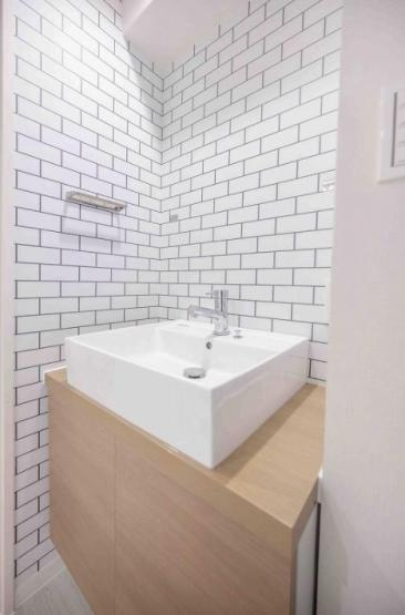 中野第三コーポ:洗面所は窓付きなので換気も安心です!