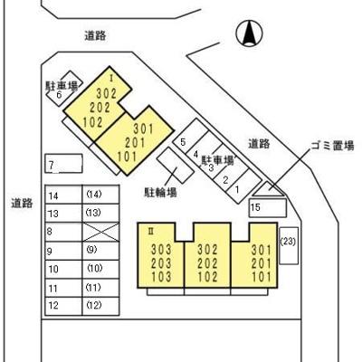 【区画図】サンスカイ徳力II