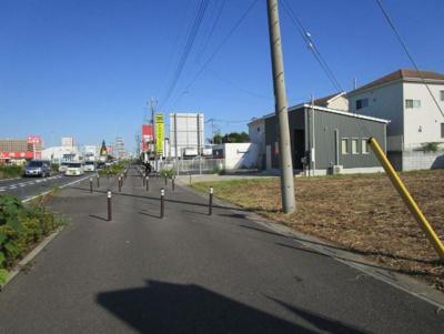 【前面道路含む現地写真】さいたま市見沼区大字丸ヶ崎 準住居地域 売地