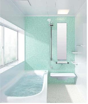 TOTOのゆったり浴槽は1坪タイプ(1616サイズ)でお子様と お風呂に入ってもゆったり空間があり、会話も弾みます
