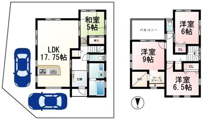 【区画図】唐崎4丁目 分譲18区画 12号地