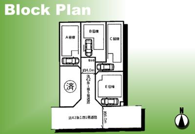 【区画図】足立区一ツ家3丁目新築戸建て【全5棟】