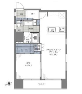 新規内装リノベーションで室内一新、開放的な角部屋1LDKです