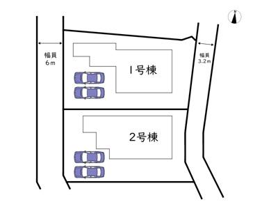 【区画図】姫路市花田町加納原田 19期/全2棟