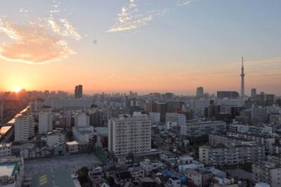 【外観】ライオンズタワー大島 14階 角 部屋 リ フォーム済