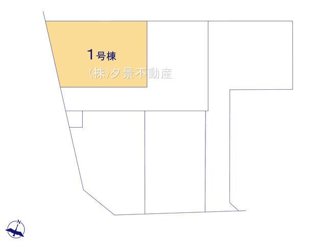 【区画図】さいたま市北区大成町4丁目410-1(1号棟)新築一戸建て