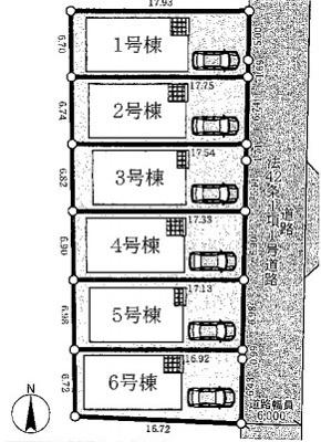 【区画図】クレイドルガーデン宇治市槇島町第2