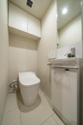 清潔感のあるトイレです。