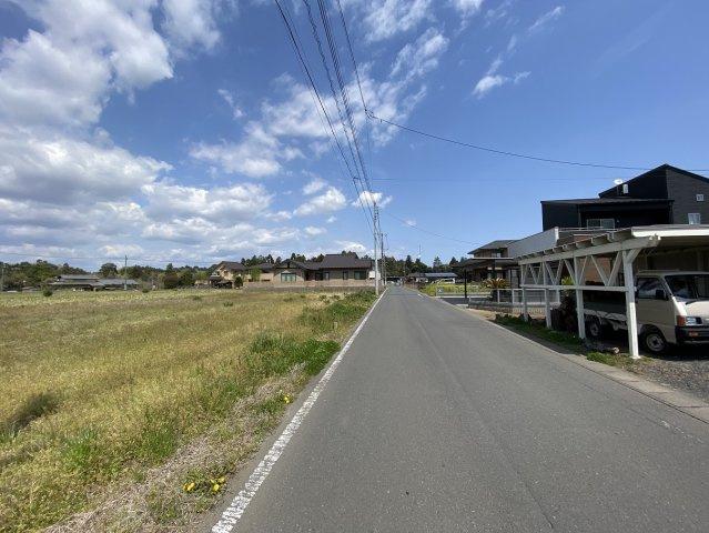 【前面道路含む現地写真】ひたちなか市高野土地